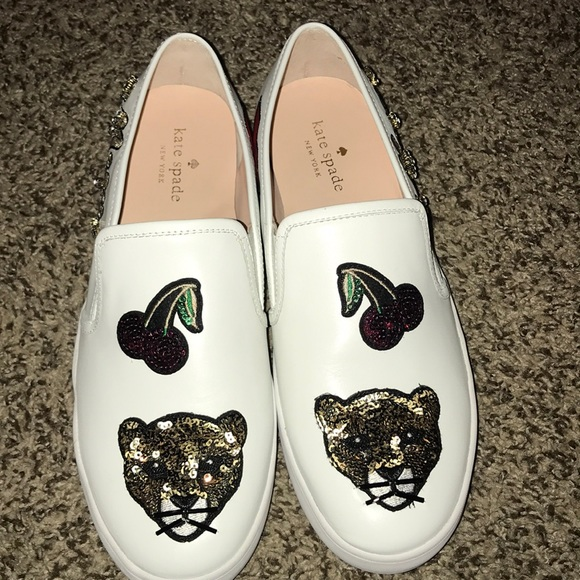 70910d42eeeb kate spade Shoes - New Kate spade Meow slip ons -